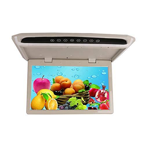 TJCB Strahlenschutz Auto TV-Monitor Decke 14-Zoll-TFT-Großbild-HD 1080P Geeignet für HDMI SD FM PAL NTSC-Videobetrieb Kombination MP3 / MP4-Player