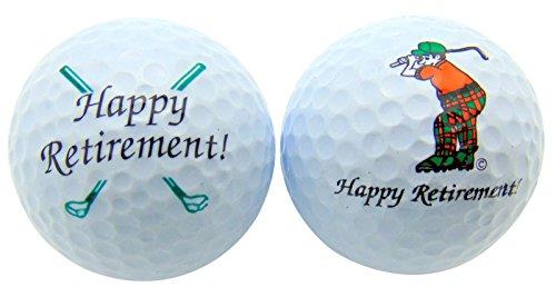 Westman Works Happy Retirement Set of 2Golf Ball Golfer Geschenk Pack Mariposa Golf