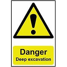 SCAN Panneau en PVC Danger Deep Fouille 4103400x 600mm