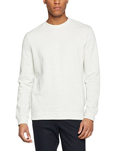 New Look Herren Sweatshirt Basic Pique Crew Sweat Beige (Oatmeal)