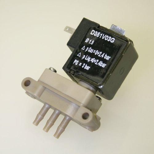 Thomafluid 3/2-Wege-Reinstmedien-Magnetventil aus PEEK - mikro, Nennweite: 1,5 mm, Anschluss-Spannung: 24= Volt, Werkstoff Dichtung: FFKM, Typ: B -