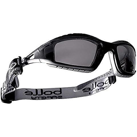 Bollé seguridad 253-TR-40086 Tracker gafas negro/gris policarbono + Tpe marco completo y humo