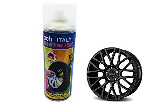 Spray vernice pittura cerchi auto pellicola removibile matte black 4 nero 400g