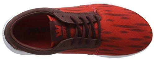 Supra Unisex-Erwachsene Hammer Run Low-Top Rot (RED / BURGUNDY - WHITE RBU)