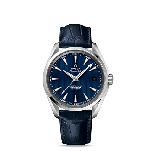 OMEGA MEN'S SEAMASTER 41.5MM LEATHER BAND AUTOMATIC WATCH 231.13.42.21.03.001