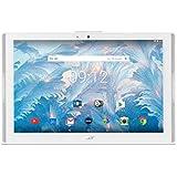 """Acer NT.LDPEE.003 Tablette tactile 10,1"""" ( 2 Go de RAM, Android 7.0, SATA, Blanc) Clavier Français AZERTY"""