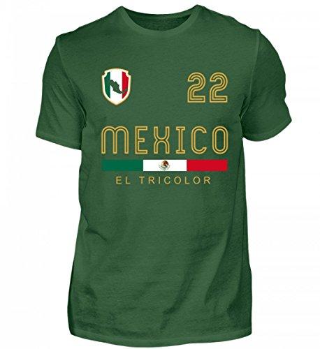 Hochwertiges Herren Shirt - Mexiko Fan T-Shirt für Fans der Mexikanischen Mannschaft - Fußball - Geschenk - WM - Retro