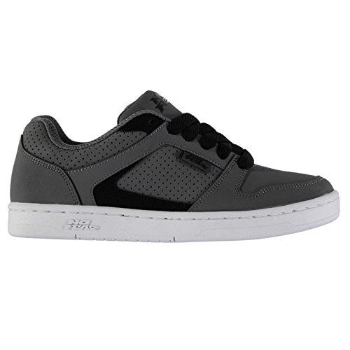 No Fear Kinder Jungen Shift Skate Schuhe Leder Skaterschuhe Sneaker Turnschuhe Charcoal
