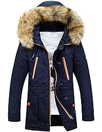 OdeJoy Unisex Frauen Männer Draussen Pelz Wolle Vlies Warm Mantel Winter  Lange Kapuze Jacke Persönlichkeit Verdicken 4d2fe268e4