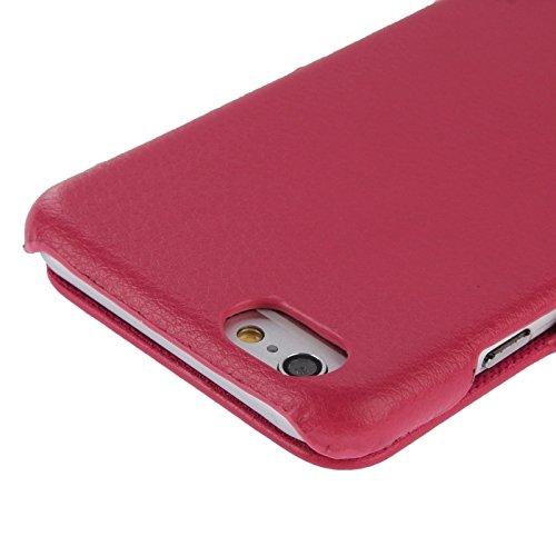 Phone case & Hülle Für IPhone 6 / 6S, PU-lederner Fall mit Art- und Weisezeichen ( Color : Magenta ) Magenta