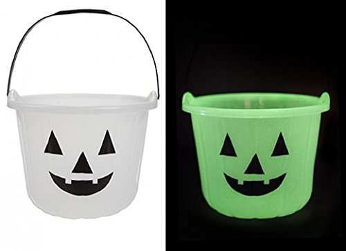 1?x Glow in the Dark Halloween K?rbis Eimer f?r Trick or Treat