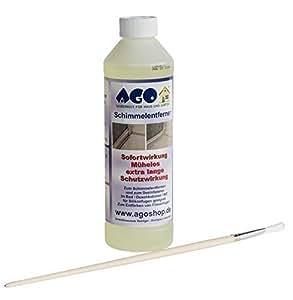 AGO ® Schimmelentferner 500ml incl.Pinsel / Wirkt deutlich stärker wie Sprühreiniger !