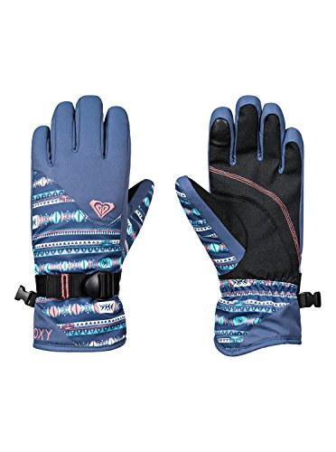 Roxy Jetty Guantes, Niñas, Azul Crown Blue_Indie
