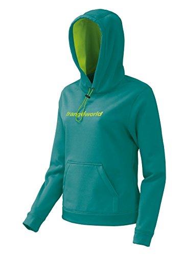 Trangoworld Poppi Sudadera, Mujer, Verde Mar, 2XL