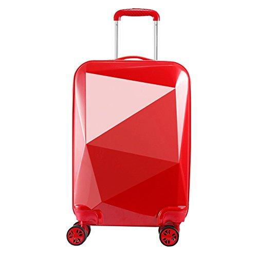 valigie trolley rigide media 20097 M Giallo 68cm Partyprince (Rosso)