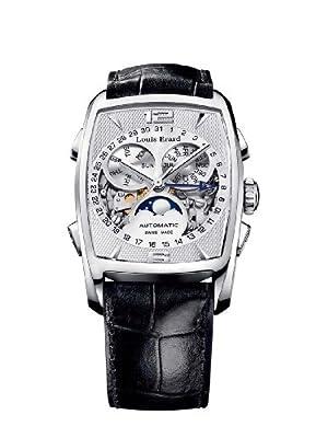 Louis Erard Men's 95211AA11.BDC51 1931 Automatic Tanneau Perpetual Calendar Black Leather Watch