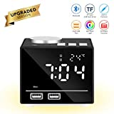 Multifunktions-Smart-Wecker Intelligente Digitaluhr Bluetooth-Lautsprecher FM-Radio Snooze AUX-IN-Funktion mit LED-Nachttischlampe Dual USB-Ports