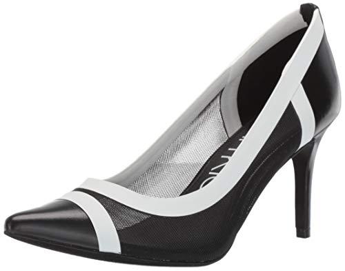 Calvin Klein Gonzalez Damen Pumpe, Schwarz (schwarz/weiß), 34 EU