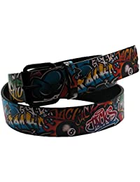 Bullet 69 Jacks Graffiti Style Printed Belt (38mm)