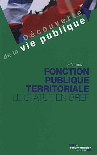 Acheter en ligne Fonction publique territoriale : statut bref