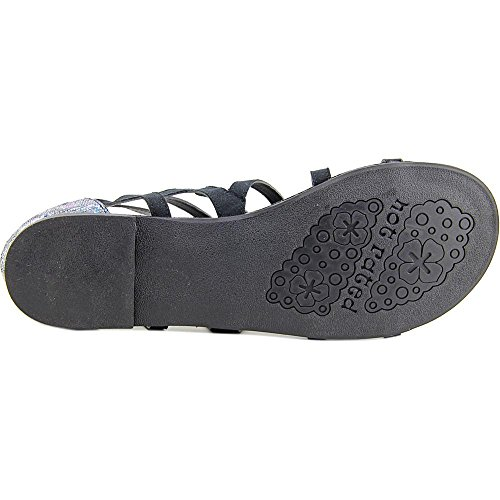 Not Rated Crystalyn Stoff Gladiator Sandale Black