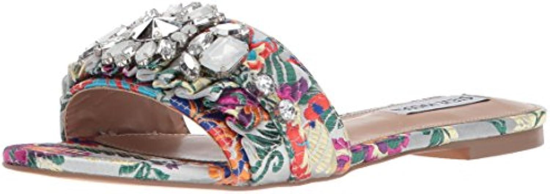 Gentiluomo   Signora Steve Madden argento Japanese Sandals by Ogni articolo descritto è disponibile Classificato per primo nella sua classe Elaborazione squisita (elaborazione) | Forte valore  | Uomo/Donna Scarpa