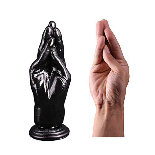 TTOOY Realistischer Handdildo Big Anal Plug, Insert Stopper Faust Fisting Sex Masturbation Anal Flirten Spielzeug Gefüllter Dildo Hand Big Dildo Sex Produkte für die Frau,Black