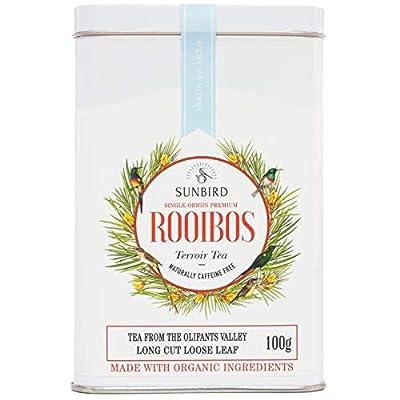 Sunbird Rooibos - Infusion Pure Rooibos Thé Rouge Olifants Valley - Feuilles entières - Sans caféine - Certifié Bio - Riche en antioxydants - Relax - Detox - Healthy Tea - 100g