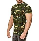 Happy Clothing Camiseta de Camuflaje para Hombre, Camiseta Militar, Größe Textil:L,...