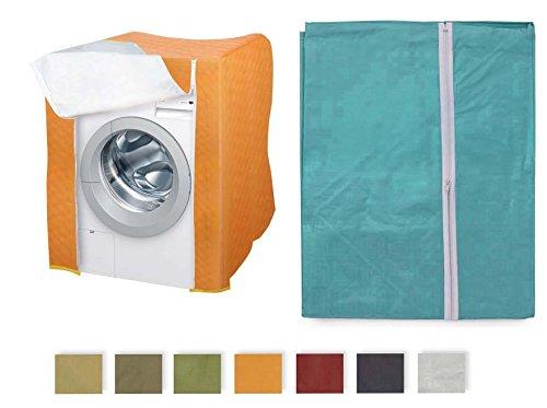 Takestop telo coprilavatrice universale 80x60x60cm proteggi lavatrice plastica plastificato con cerniera colore casuale