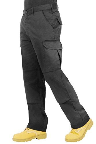 Proluxe Endurance Mens Cargo Combat Work Trouser With Knee Pad Pockets and Reinforced seams - Available In Black or Navy