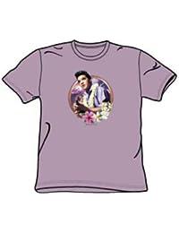Elvis - Luau King - Jugend Lavender Kurzarm T-Shirt für Jungen
