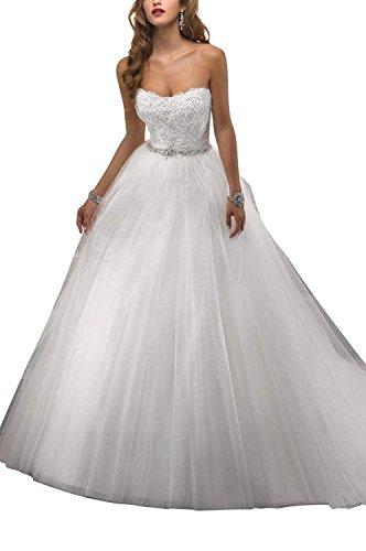 Beyonddress Damen Prinzessin Schatzhals Hochzeitskleider Elegant Lange Brautkleider...