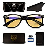SeeSafe Blue Light Blocking Filter Glasses for Men & Women - Free Accessory Kit Included - Block Blue Light & Reduce Eye Strain from Screen Use - Our Anti Computer Glare Blockers Help Sleep