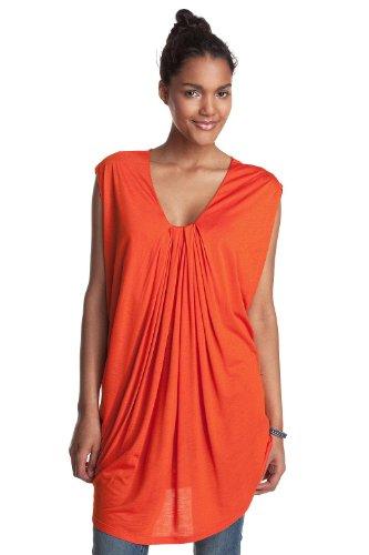 ESPRIT DE CORP Damen T-Shirt Regular Fit, D01623 Orange (828 mandarin)