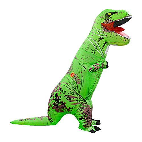 Disfraz de Dinosaurio Hinchable T-Rex Explosión de Dinosaurio Conjunto de Ropa de Lujo Fiesta de Juguetes para Adulto de 220cm Gusspower