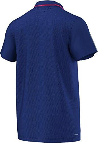 Adidas Barricade Polo–T-shirt per uomo Blaugrau/Grau