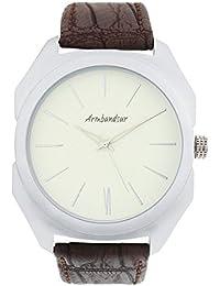 Armbandsur Analog off white dial Tonneau Watch-ABS0011MBS