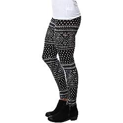 MORCHAN ❤ Casual Femmes Lady Skinny imprimé géométrique Stretch Pantalon de Jegging Slim Leggings Jeans Combinaisons Pantalon Court Collants Knickerbockers(S,Noir)