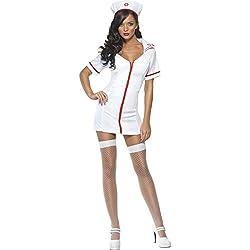 Smiffy's - Disfraz de enfermera sexy para mujer, talla 40 - 42 (22016M)
