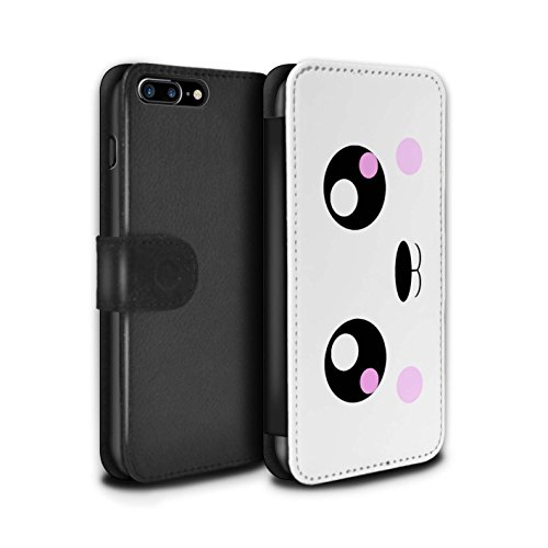 STUFF4 PU-Leder Hülle/Case/Tasche/Cover für Apple iPhone 6 / Panda Muster / Nette Kawaii Kollektion Panda