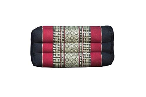 Thai Kissen Rechteck klein aus Baumwolle und Kapok-Füllung in verschiedenen Stofffarben, Stofffarbe...
