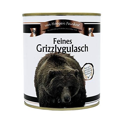 Grizzlygulasch - täuschend echt - Party-Geschenk - Witzige Dose mit Grizzly-Gulasch als Geschenkidee
