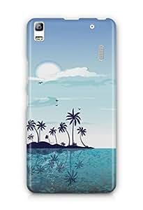 YuBingo Beach and Sky Mobile Case Back Cover for Lenovo K3 Note