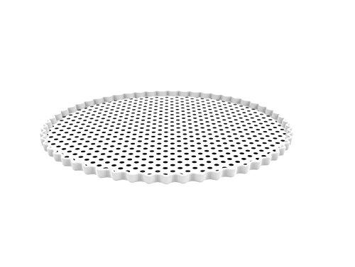 Zak! designs 1374-8300 Plat à gâteaux Blanc
