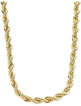 Iced Out Bling Hip Hop Rope Kordelkette - 4mm - gold - 77cm