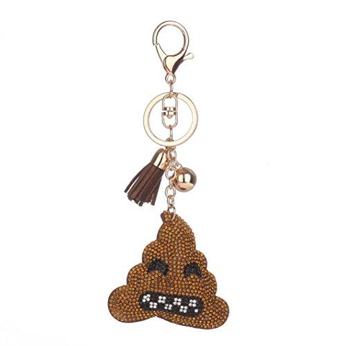 Yogogo-Emoticon-Quasten-Auto-Beutel-Keychain-Handtaschen-Schlsselring-Poo-Form-Schlsselanhnger-C