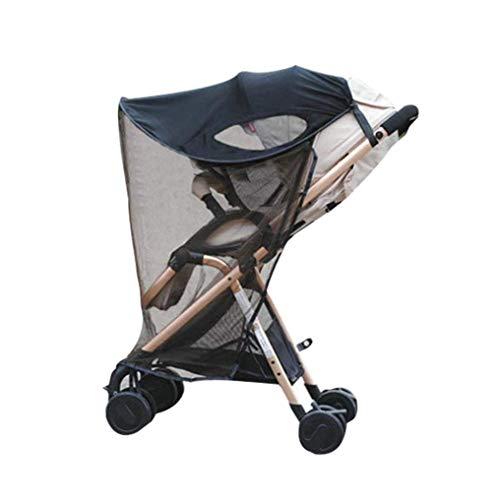 Parasole universale per passeggino, con zanzariera, anti UV, parasole per passeggino, carrozzina, passeggino, seggiolino auto