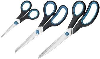 Westcott N-90027 00 Easy Grip Scheren Set, 3 Stück, 13cm + 21cm + 25 cm, schwarz-blau