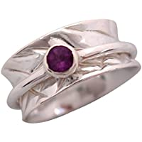 Energy Stone-Crown Chakra Faceted, 5mm, Amethyst, Silber Meditation-Ring (# uka26-amy) preisvergleich bei billige-tabletten.eu